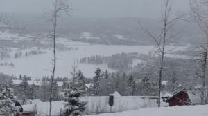 Blick auf das - Dick - zugefrorene Bogstadvannet