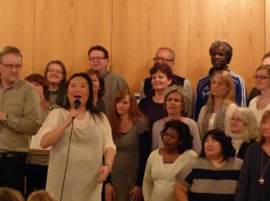 ... mit dem Drammen International Gospel Choir ...