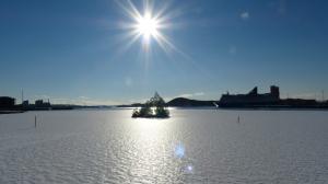 ... aus dem vereisten Oslofjord.
