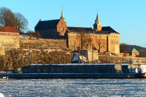 ... Eisschollen vor Akershus Festning....