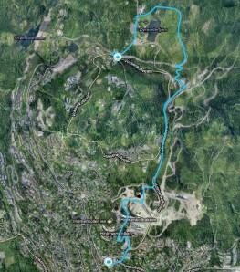 Vom Voksenkollen (Metro) bis Holmenkollen (Metro), eine schöne kleine 5km Tour...