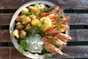 Garnelen - leckeres Essen mit selbstgemachtem Dilldipp...