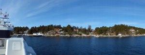 Schöne Häuser im Oslofjord...