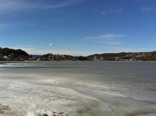 Noch ist der Oslofjord hier vereist...