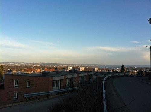 Oslo von Montebello aus gesehen