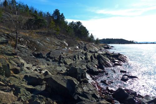 Die Felsige Nordküste der Insel