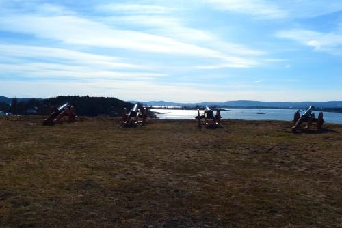Die alte Bastion mit 10 Kanonen.