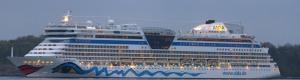 AIDAbella Panorama bei der Einfahrt in den Hafen von Oslo