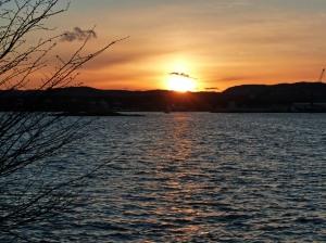 Solnedgang über'm Oslofjord
