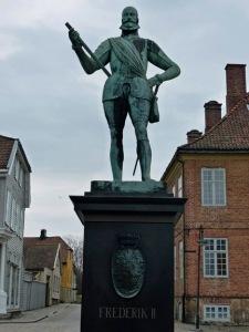 Frederik II auf dem Marktplatz