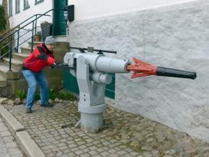 am - leider geschlossenen - Walfangmuseum