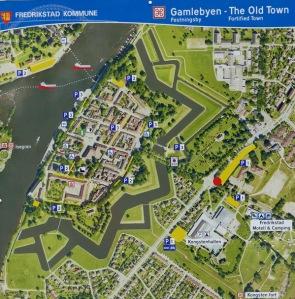 Plan der Festungsanlage mit Gamlebyen