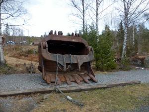 Bergbaumuseum Kongsberg: Baggerschaufel an der Silbermine