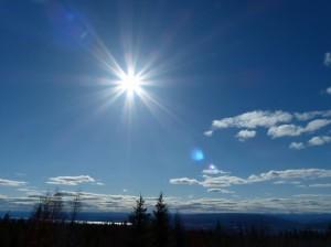 Fantastische Fruehlingssonne