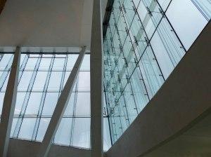Oslo Oper: Glassfassade von innen