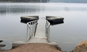 Der Pool im Sognsvann (noch zu kalt)