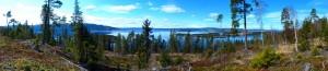 Und noch drei Panoramafotos: Tyrifjorden und Utøya...