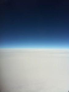 """""""... muss die Freiheit wohl Grenzenlos sein""""   - Traumhaftes Blau-Weiß auf dem Rückflug"""