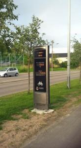 Kuriositäten: Der Apparat zählt die vorbeikommenden Radfahrer :-)