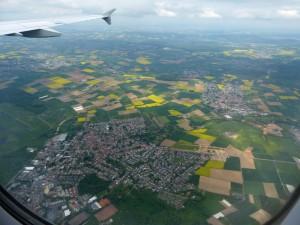 Hessen: re. A45, Mitte re. Ravolzhausen, vorne Hanau-Erlensee