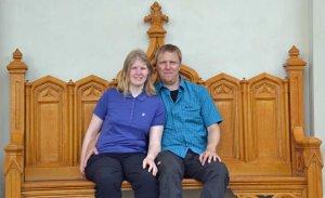 Sarah und David auf der Königsbank ...