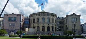 Das Stortinget - Norwegens Parlament (die Wahl ist übrigens 2 Wochen vor der Bundestagswahl)