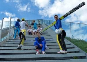 Die Überraschung: Skispringen im Sommer ...