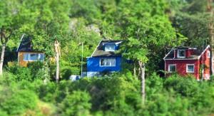 Bunte Häuser auf Bleikøya