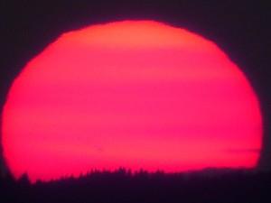 ... mit Sonnenuntergang ...