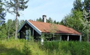 Eine der Wanderhütten des DNT (Den Norske Turistføreningen > Norwegischer Tourist und Wanderverein)