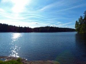 Die Belohnung der Strapazen: ein wunderschön gelegener ruhiger Waldsee!