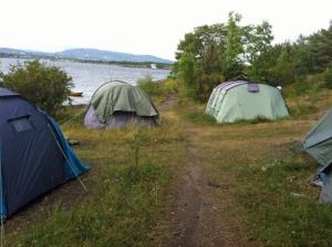 Campen auf Langøyene scheint sehr beliebt zu sein...