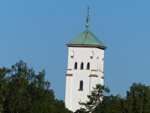 Turm der Ris-Kirche (Nähe Rikshospital) nach der Nachtschicht