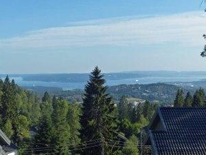 Blick vom Holmenkollen auf den Oslo-Fjord