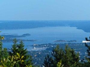 ...und nach Süd-Südwest den Oslofjord entlang.