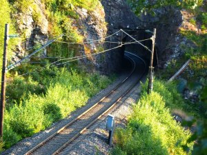 Gjøviksbanen in Richtung Süden ...