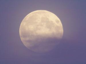 Mond in Pastellfarben