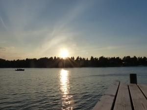Ok, ich war etwas spät dran: Kurz vor Sonnenuntergang.
