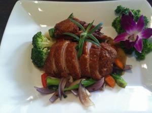 Zwei leckere Gerichte: Entenbrust Mediterain-Style ...