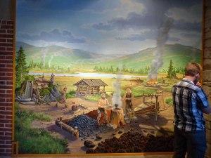 Szene aus dem fruehen Bergarbeiterleben...