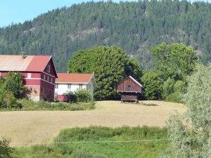 Typischer norwegischer Speicher aus frueheren Zeiten: Erhøht, damit nicht soviel Getier ans gelagerte Futter kommt.