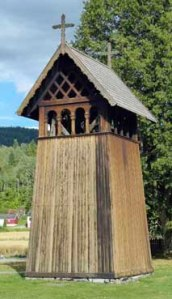 Glockenturm der Heddal Stavkirke