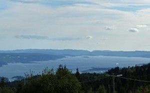 Ausblick auf den Oslo-Fjord: vom Frognerseteren aus.