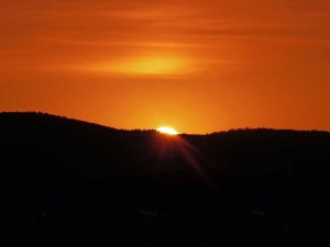 Sunset von Hovedøya aus