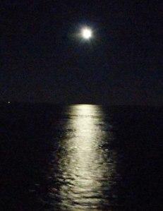 Mondlicht mitten im Kattegatt/Skagerakk