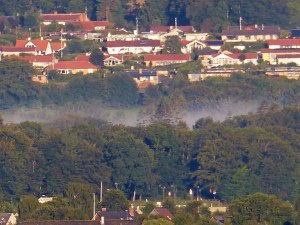 Nebelschwaden ueber Frederikshaven