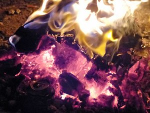 ... nach dem Grillen verbrennen.