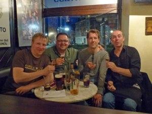 ... dem ich natuerlich zum Pub-Quiz einen Besuch mit David und Andreas abstattete.