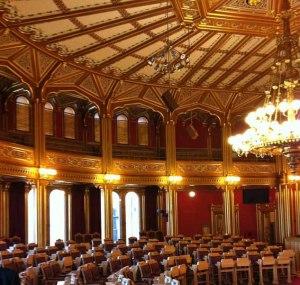 großer Sitzungssaal im Stortinget 2