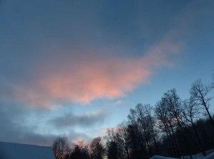 Sonnenuntergangsstimmung über dem Tal